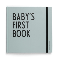 Design Letters Babys first book, turkis