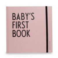 Design Letters Babys first book, pink