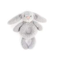 Jellycat bamse, bashful kanin rangle - silver
