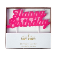 Meri Meri lagkagelys, Happy Birthday - pink